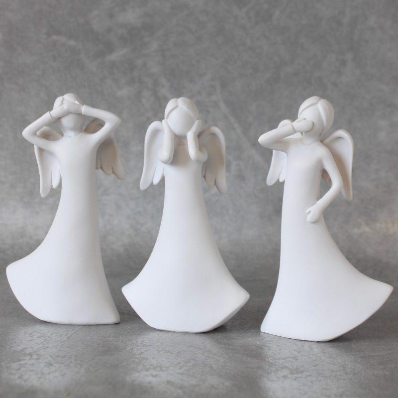 No Evil See Hear Speak Angel Statues