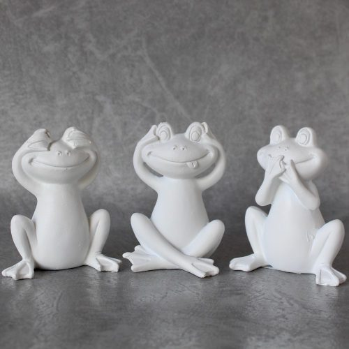 No Evil See Hear Speak Frogs Statues
