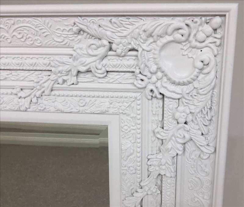 White French Ornate Timer Wall Mirror