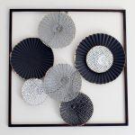 Black Abstract Circles Framed Metal Wall Art_3