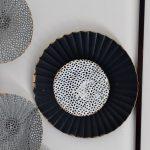 Black Abstract Circles Framed Metal Wall Art_4
