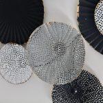 Black Abstract Circles Framed Metal Wall Art_5