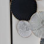 Black Abstract Circles Framed Metal Wall Art_6