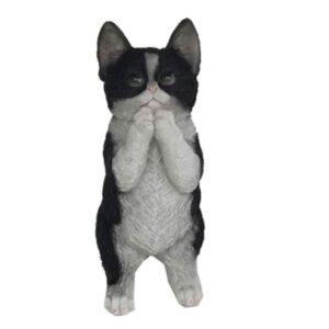 Black and White Kitten Cat Statue