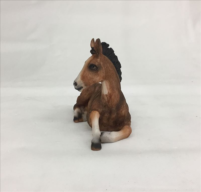 Brown Sitting Horse Animal Statue