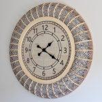 Extra Large Hamptons Hessian Cane Wall Clock