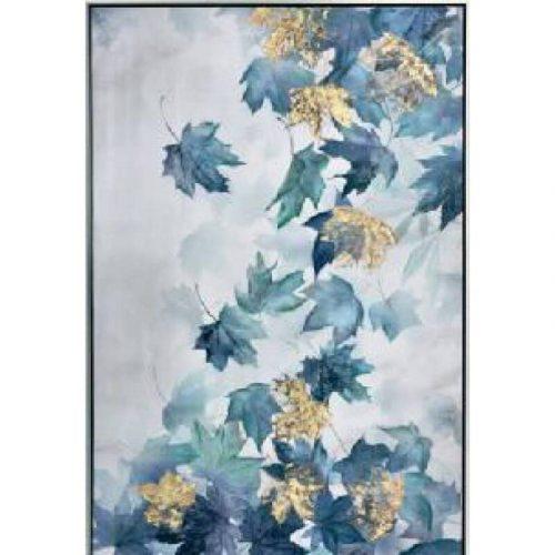 Falling Tree Leaves Framed Canvas Print Wall Art