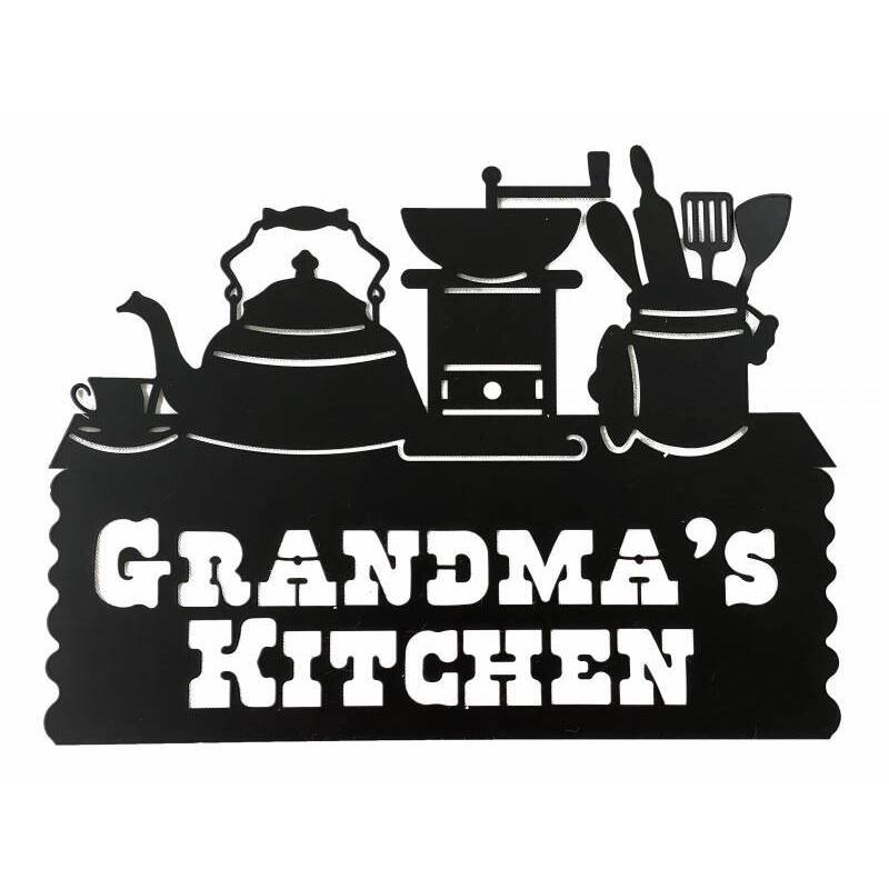 Grandma's Kitchen Metal Wall Art Sign