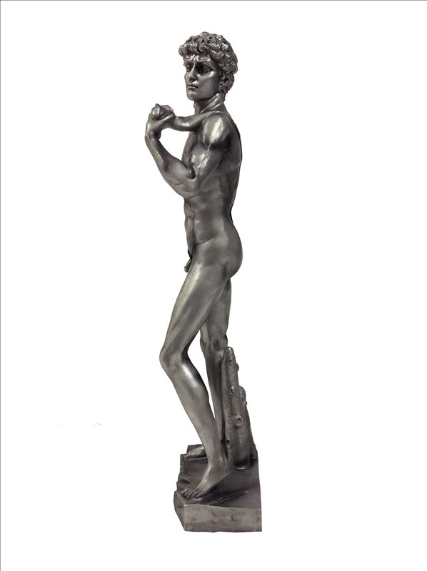 Large Silver Statue of David Sculpture
