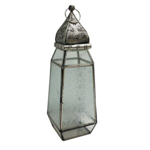 Moroccan Glass Candle Lantern