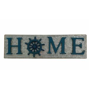 autical Wheel Home Metal Wall Art Sign