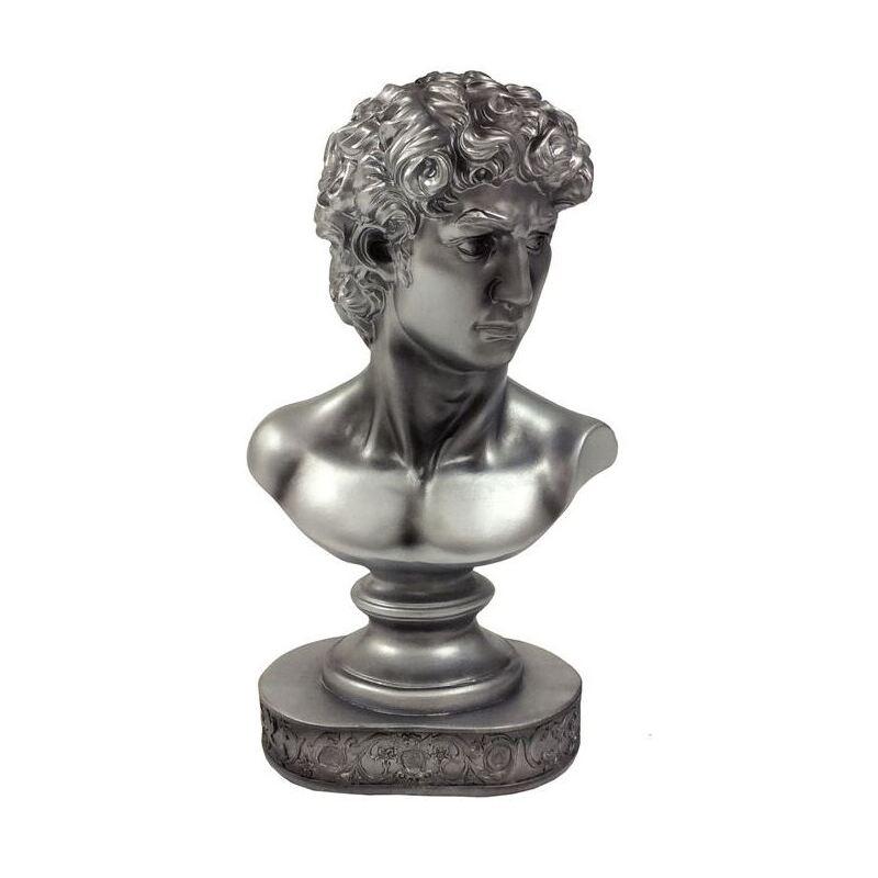 Silver Mario Bust Statue Figurine