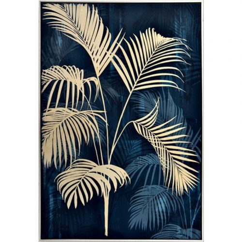 Palm Tree Leaves Framed Canvas Print Wall Art