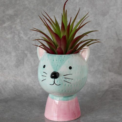 Pink and Blue Mouse Pot Planter_4