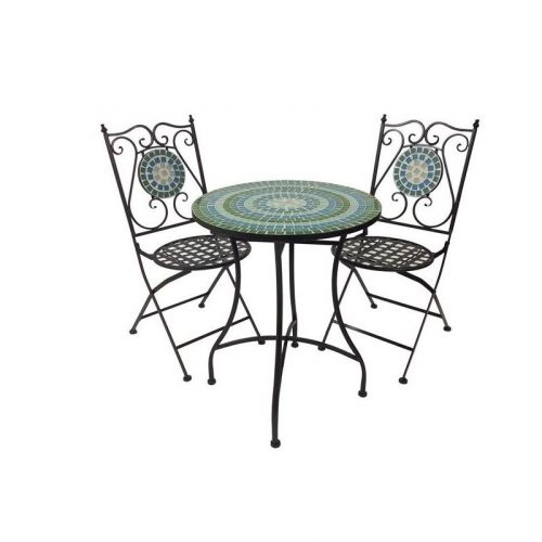 Set of 3 Moroque Metal Patio Garden Setting