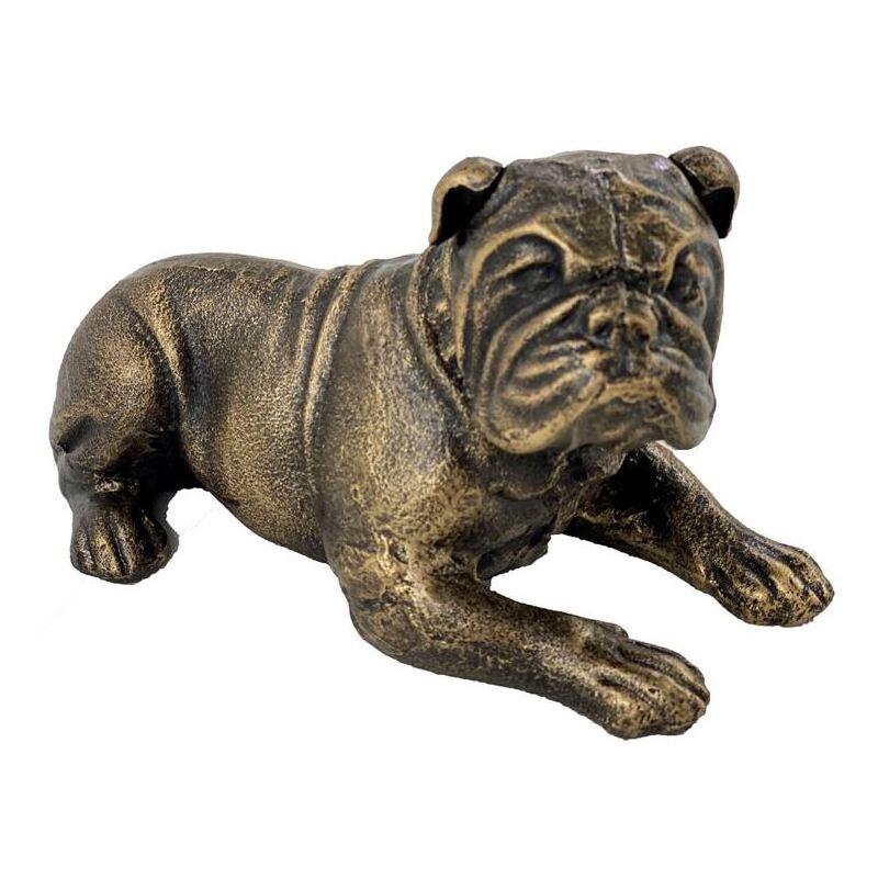 Sitting Bronze French Bulldog Iron Animal Statue