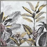 Tropical Jungle Leaves Framed Canvas Print Wall Art