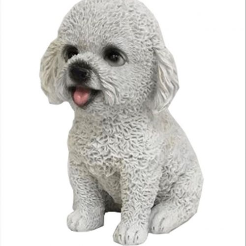 White Puppy Statue Animal Dog Sculpture