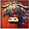 Wild Colourful Canvas Framed Print Wall Art