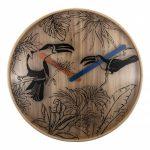 Black Birds NeXtime Silent Wooden Wall Clock