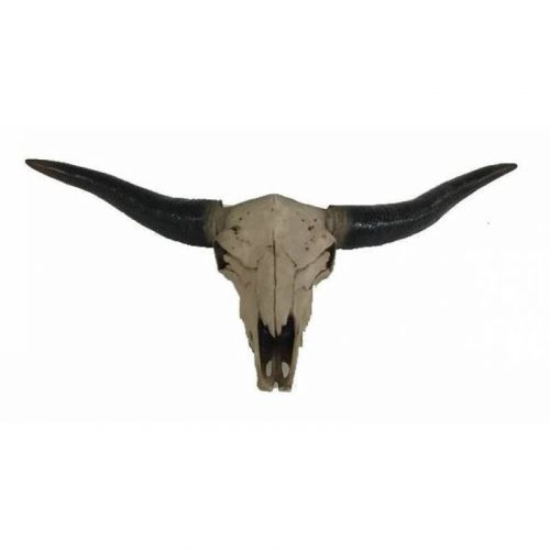 Boho Cow Skull Head Statue Wall Hanging