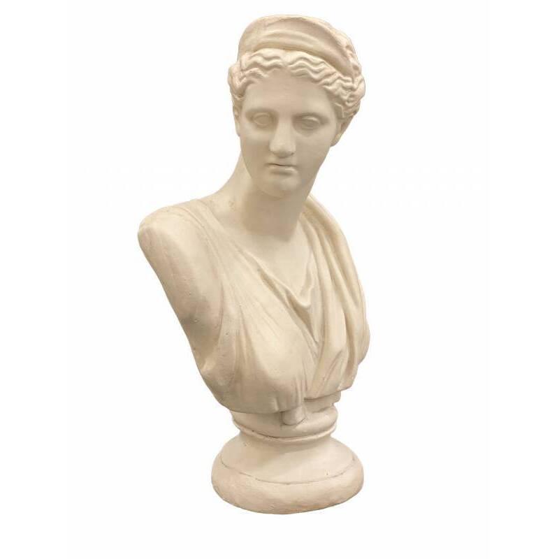 Cream Lady Bust Statue Ornament