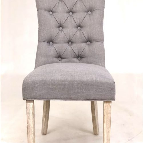 French Provincial Fabric Dining Chair - Set of 2