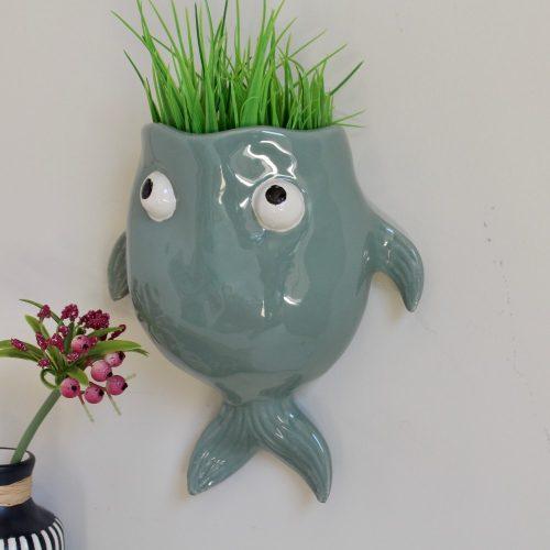 Glossy Ceramic Fish Eye Planter