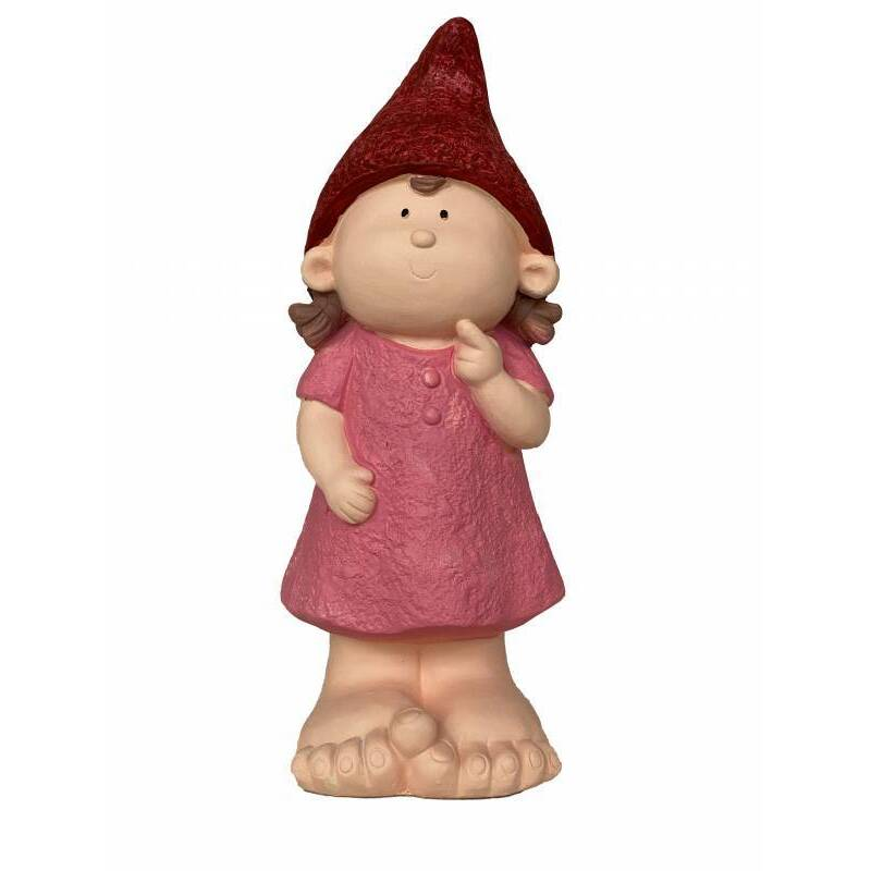 Large Pink Garden Gnome Statue