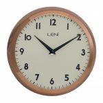 Round Leni Silent Wall Clock - Copper