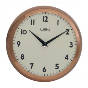 Round Leni Silent Wall Clock - Copper