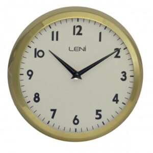 Round Leni Silent Wall Clock - Gold