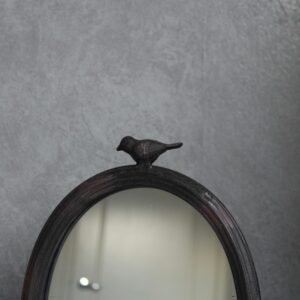 Rustic Black Bird French Table Mirror