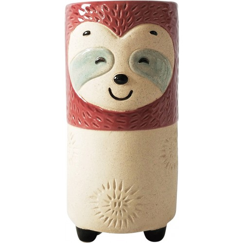 Sandy Sloth Ceramic Decorative Vase