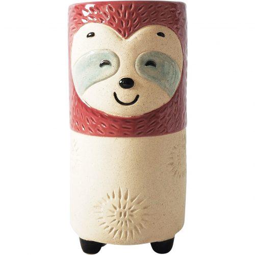 Sandy Sloth Ceramic Decorative Vase