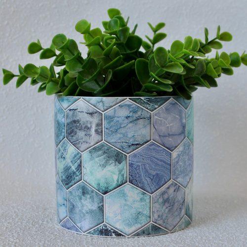 Set of 4 Blue Planters