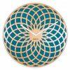 Turquoise Mandala Dream Catcher NeXtime Silent Wall Clock