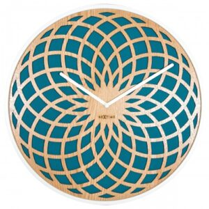 Turquoise Mandala Dream Catcher NeXtime Silent Wall Clock