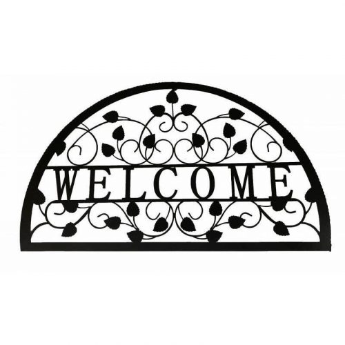 Welcome Metal Art Laser Cut Leaves Wall Decor