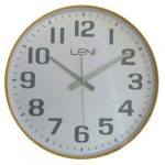 White LENi Silent Wooden Wall Clock