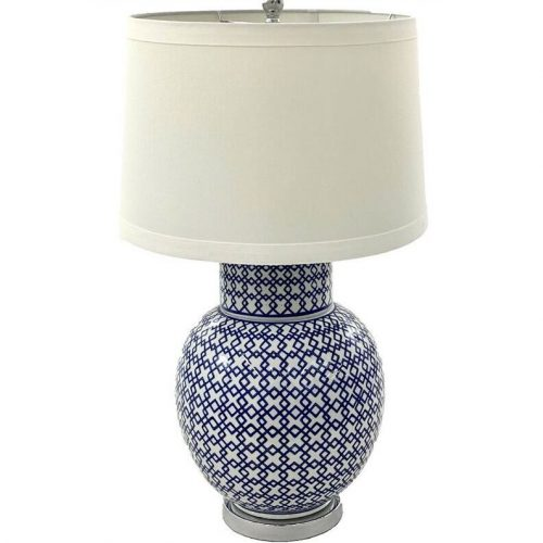 Hamptons Blue Ceramic Lamp