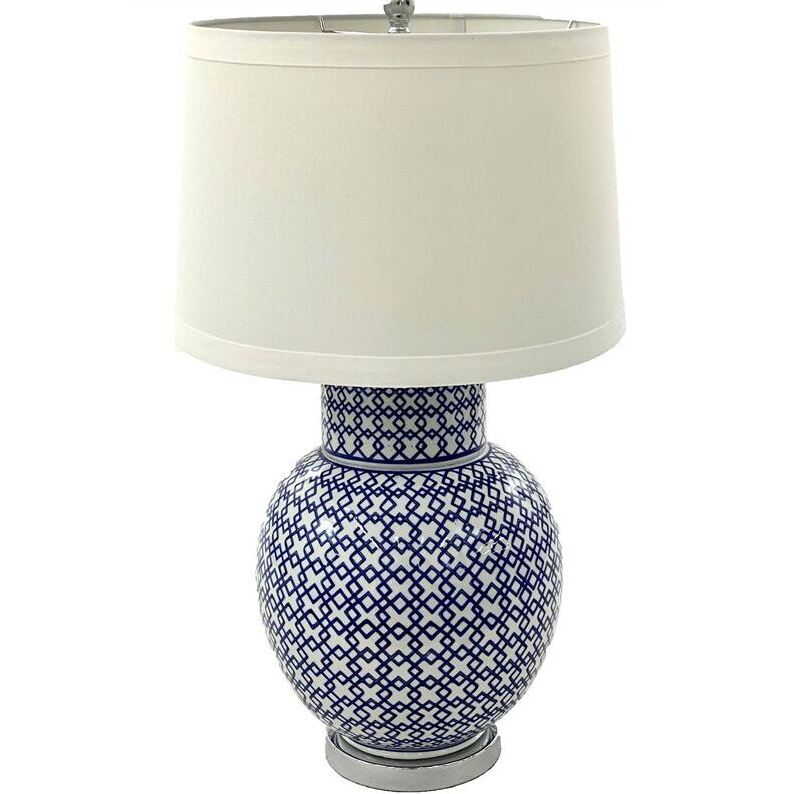 Hamptons Blue Ceramic Lamp