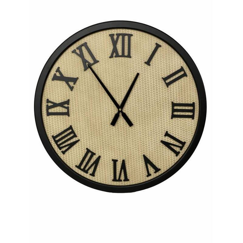 Large Black Roman Numbers Wall Clock