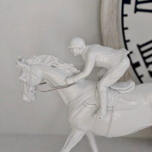 New Jockey on White Horse Statue