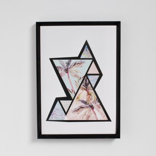Retro Palm Tree A4 Print Wall Art