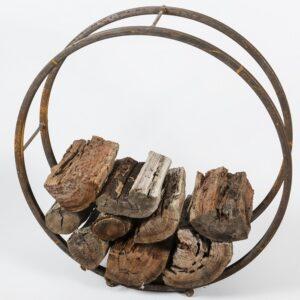 Rustic Metal Tube Firewood Log Rack Holder