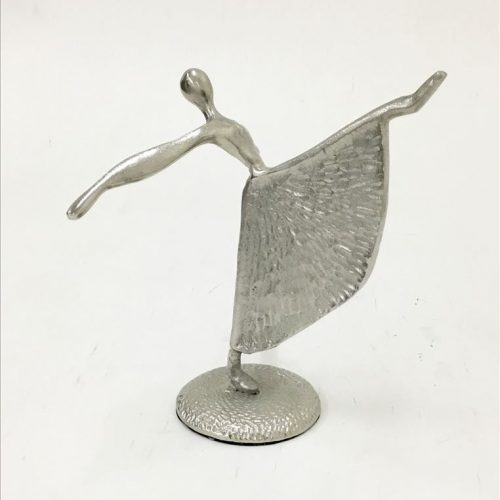 Silver Dancing Ballerina Girl Aluminium Statue