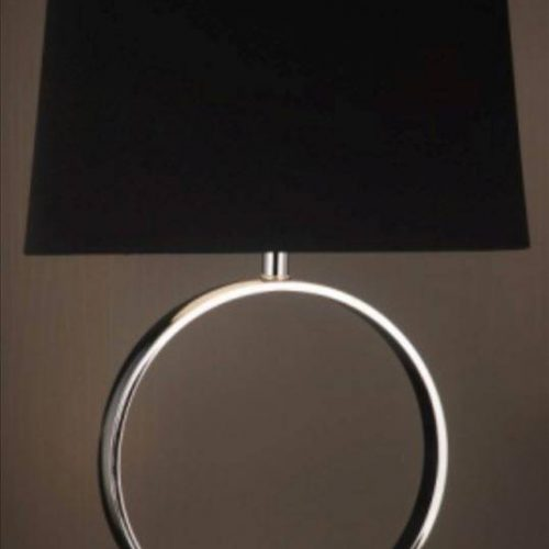 Victoria Table Lamp With Black Shade And Silver Base
