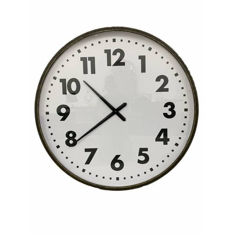 X Large Black and White Glass Wall Clock