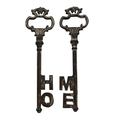 Distressed Iron Home Key Ornament